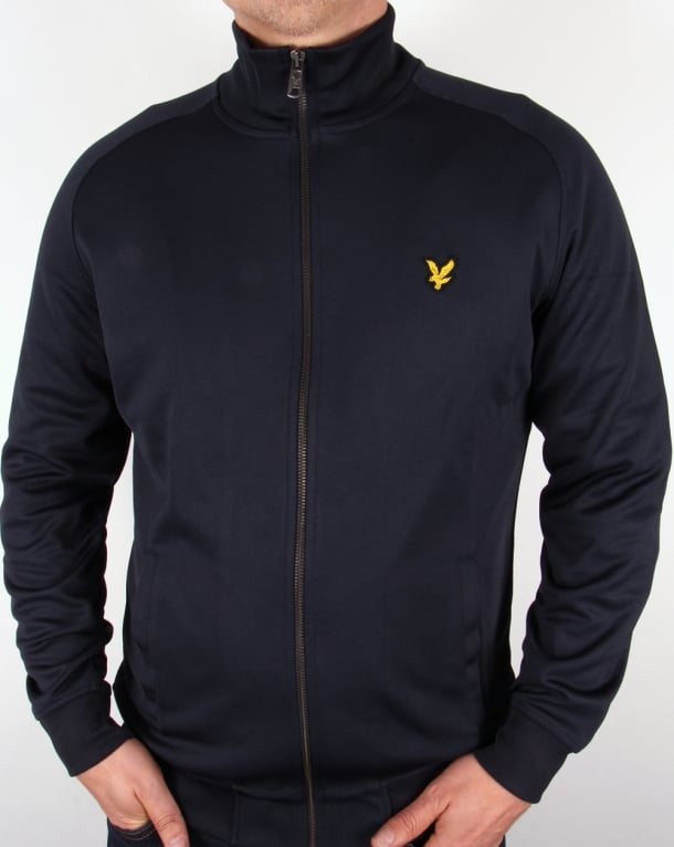 Lyle And Scott Track Jacket Navy Blue