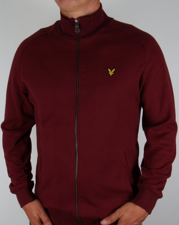 Lyle And Scott Track Top Claret