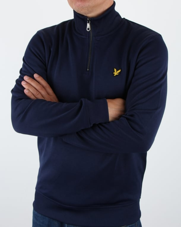Lyle and Scott Tricot 1/4 Zip Navy