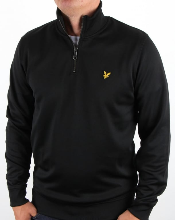 Lyle and Scott Tricot 1/4 Zip True Black