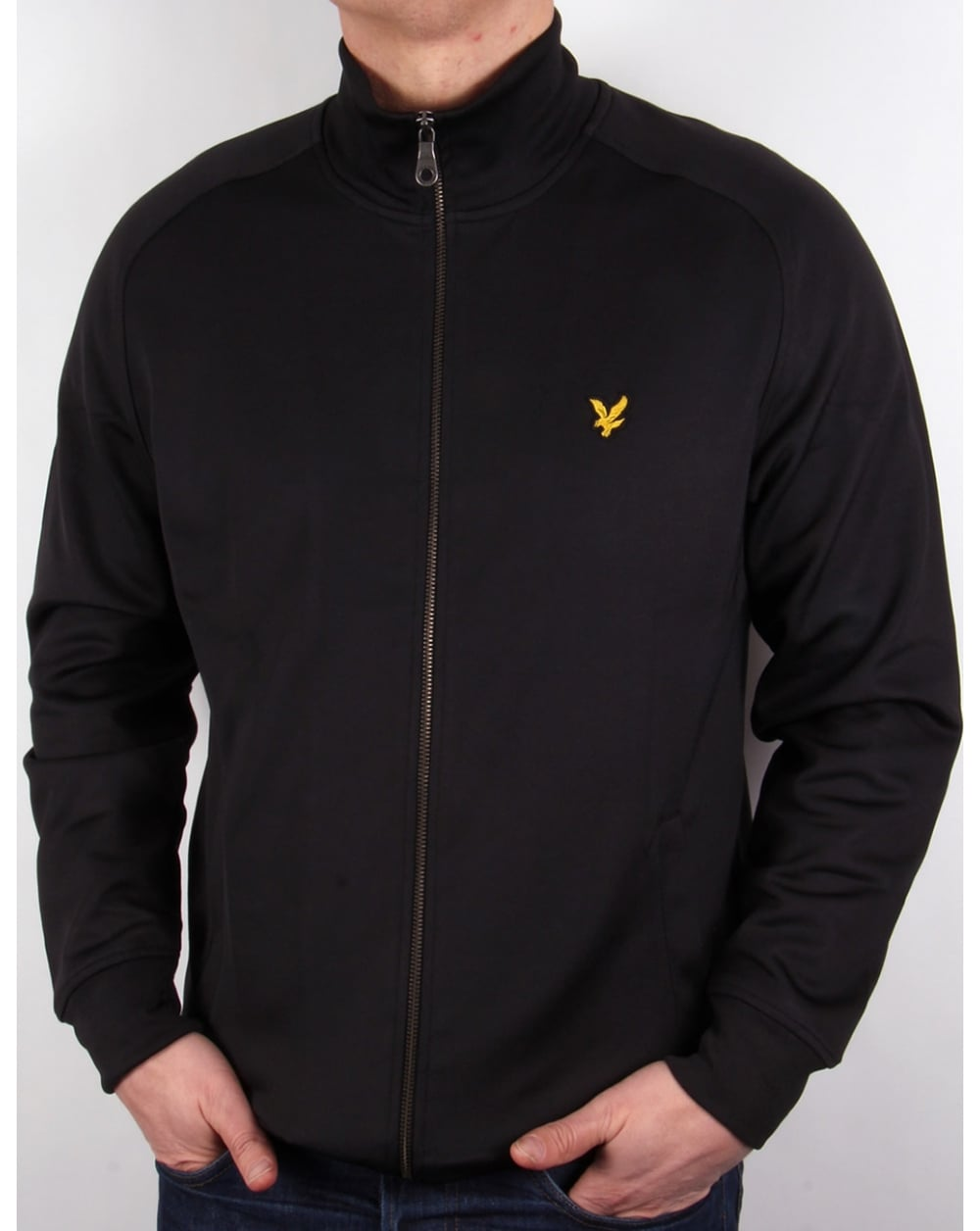 lyle and scott tricot track jacket black tracksuit top mens. Black Bedroom Furniture Sets. Home Design Ideas