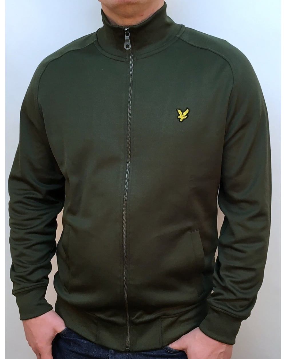 lyle and scott tricot track jacket dark sage track. Black Bedroom Furniture Sets. Home Design Ideas