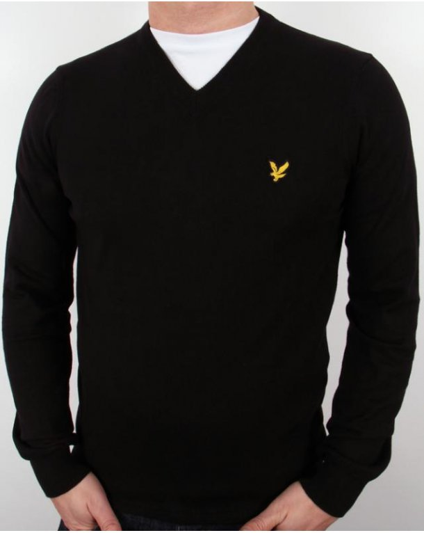 Lyle And Scott V Neck Jumper Black