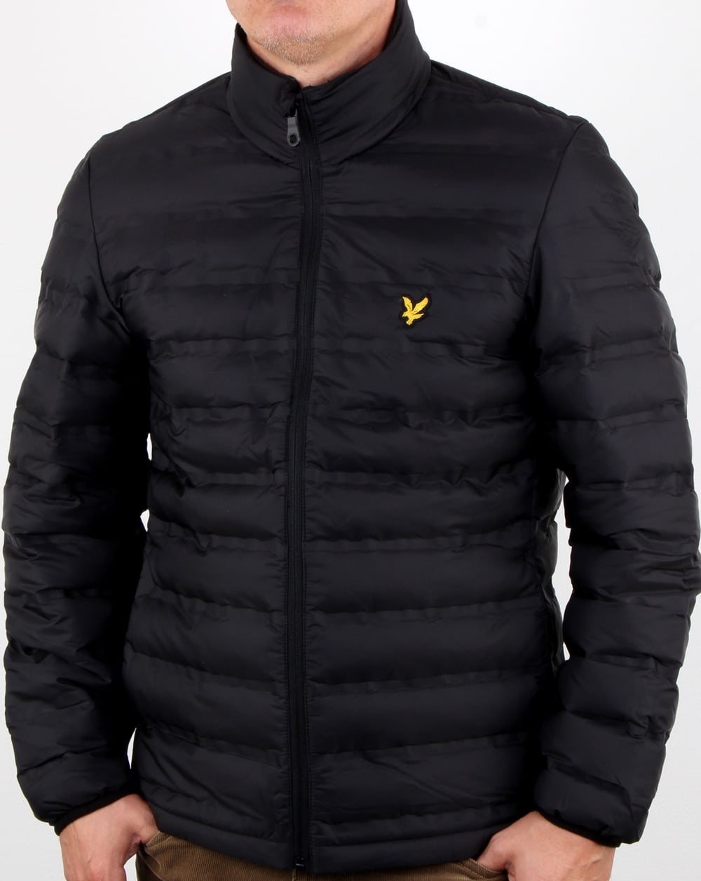 lyle and scott wadded funnel neck jacket true black mens. Black Bedroom Furniture Sets. Home Design Ideas