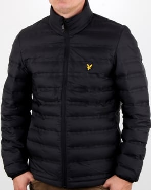 Lyle And Scott Wadded Funnel Neck Jacket True Black