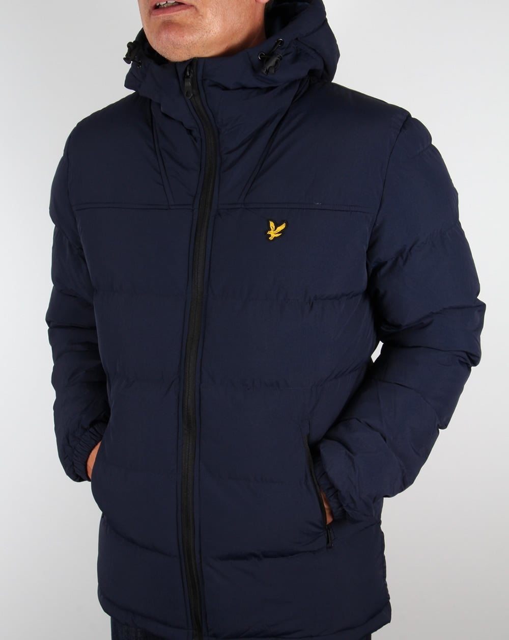 lyle and scott jacket navy wadded bubble padded puffer. Black Bedroom Furniture Sets. Home Design Ideas