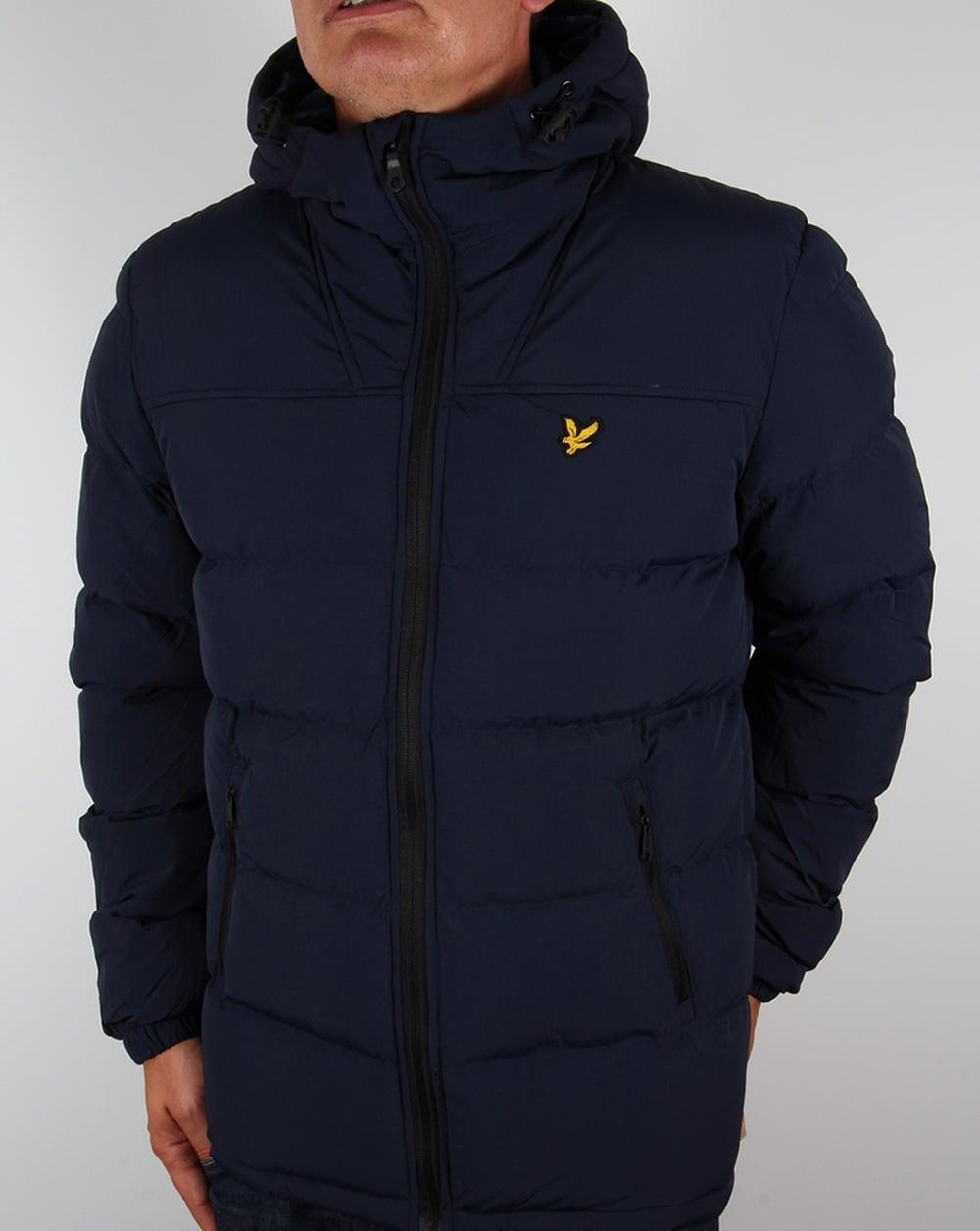 lyle and scott wadded jacket navy coat parka mens puffa padded winter. Black Bedroom Furniture Sets. Home Design Ideas