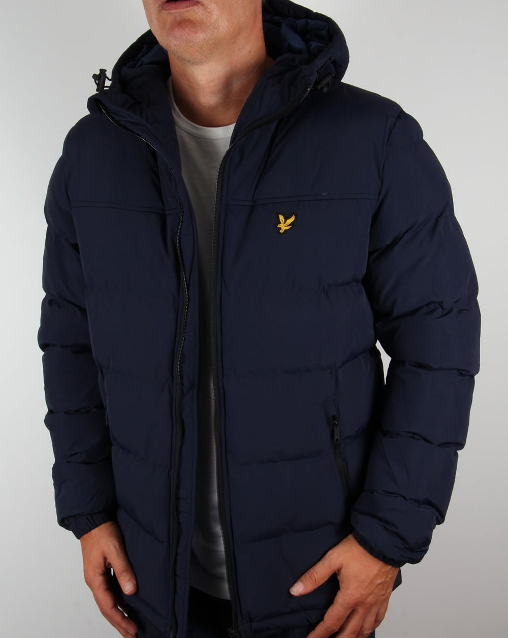 lyle and scott wadded jacket navy coat parka mens puffa padded winter. Black Bedroom Furniture Sets. Home Design Ideas