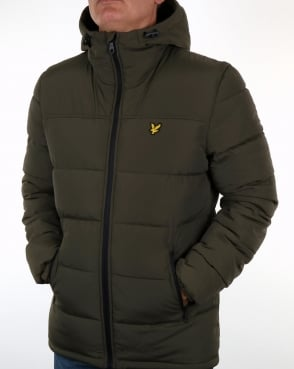 Lyle And Scott Wadded Jacket Olive