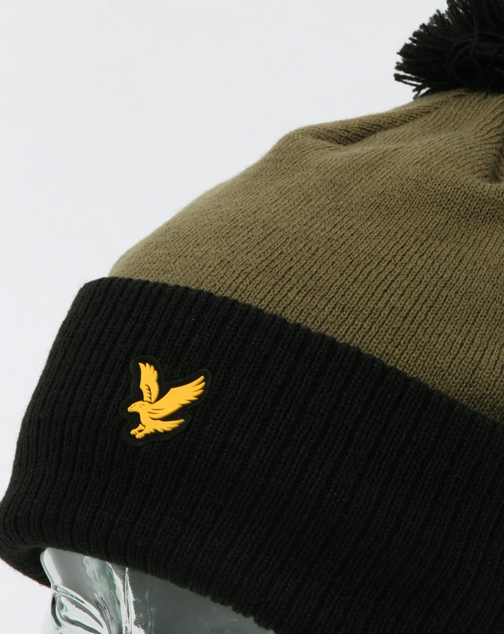 b1c9577507d Lyle And Scott Walsh Bobble Beanie Black olive