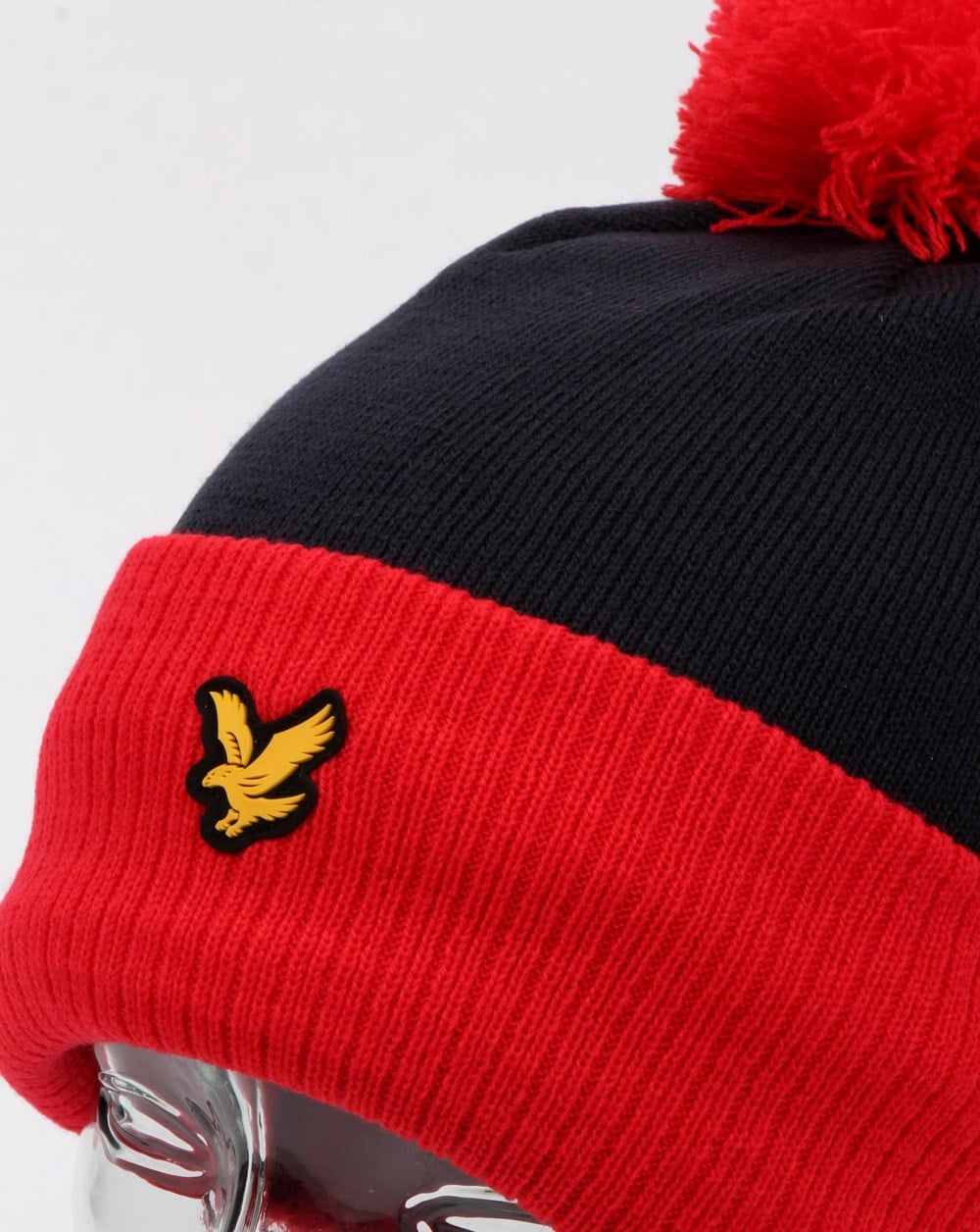 b57efc5efd5 Lyle And Scott Walsh Bobble Beanie Red navy