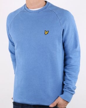 Lyle And Scott Washed Sweatshirt Cornflower