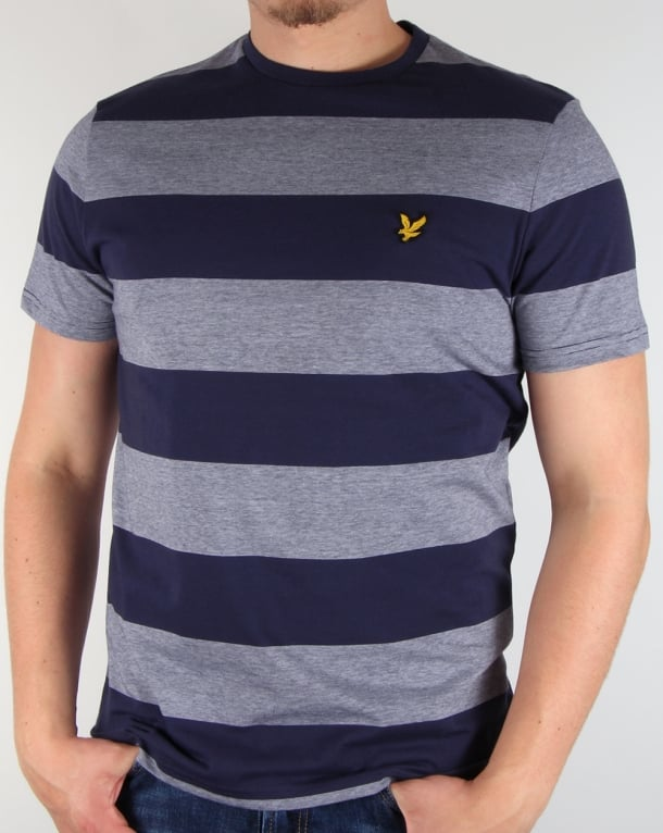 Lyle And Scott Wide Stripe T-shirt Navy