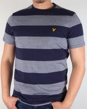 Lyle And Scott Wide Stripe T-shirt Navy