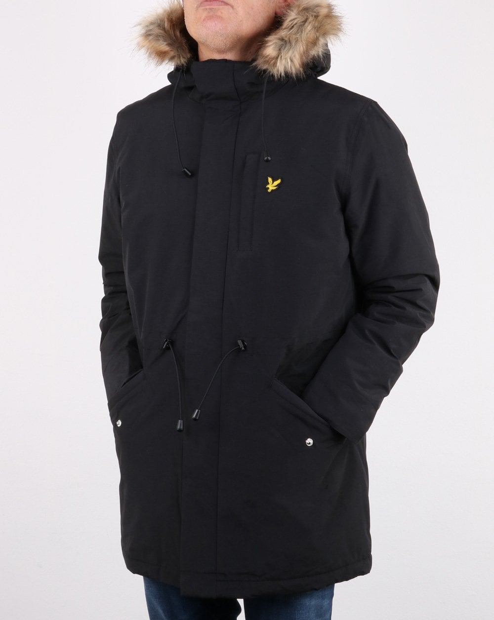 lyle and scott winter weight microfleece lined parka. Black Bedroom Furniture Sets. Home Design Ideas