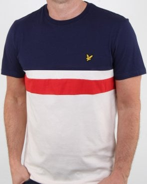 Lyle And Scott Yoke Stripe T-shirt Navy