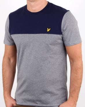 Lyle And Scott Yoke T Shirt Mid Grey Marl