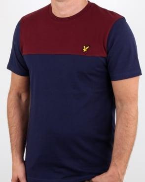 Lyle And Scott Yoke T Shirt Navy