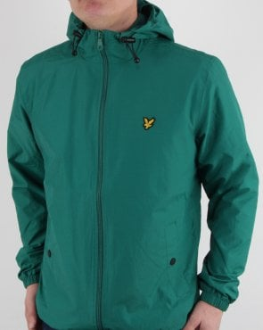 Lyle And Scott Zip Through Hooded Jacket Alpine Green