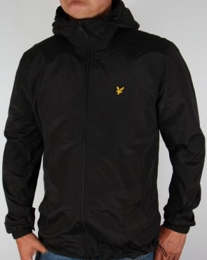 Lyle And Scott Zip Through Hooded Jacket Black