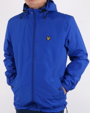 Lyle And Scott Zip Through Hooded Jacket Duke Blue