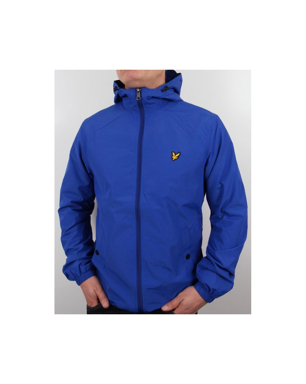 lyle and scott zip through hooded jacket duke blue lyle. Black Bedroom Furniture Sets. Home Design Ideas