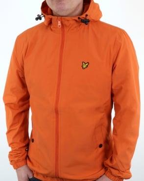 Lyle And Scott Zip Through Hooded Jacket Orange
