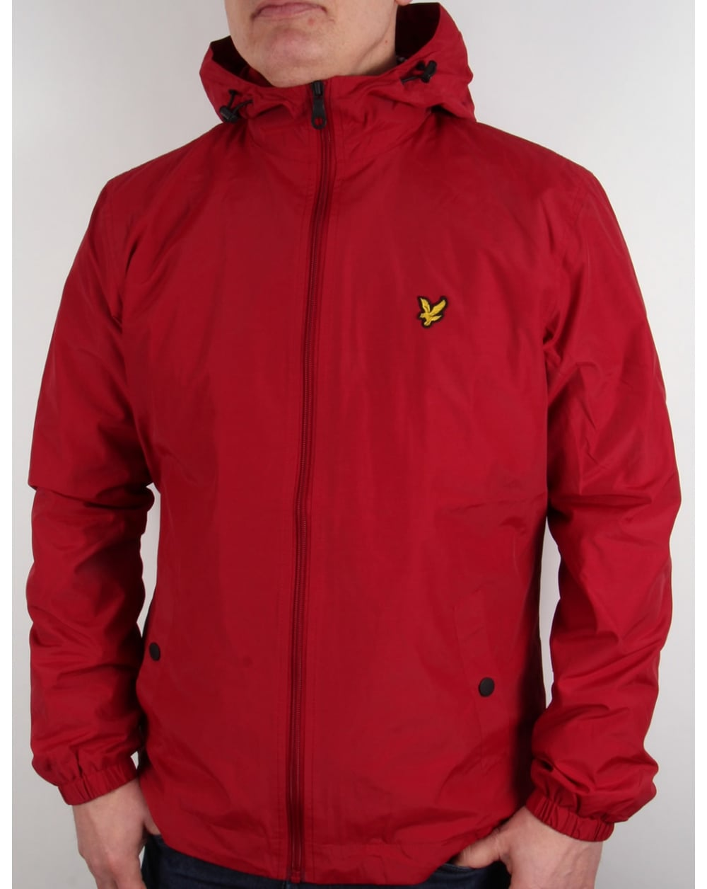 lyle and scott zip through hooded jacket ruby coat shell mens. Black Bedroom Furniture Sets. Home Design Ideas
