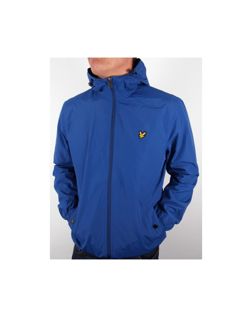 lyle and scott zip through hooded jacket saltire blue lyle scott zip through hooded jacket. Black Bedroom Furniture Sets. Home Design Ideas