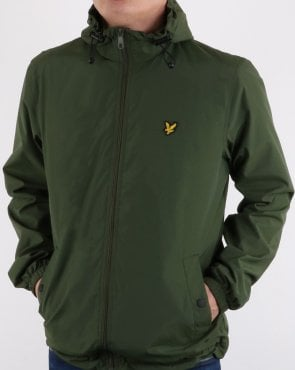 Lyle And Scott Zip Through Hooded Jacket Woodland Green