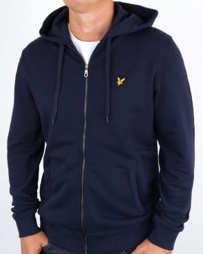 Lyle And Scott Zip Through Hoodie Navy