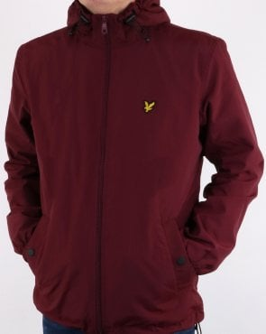 Lyle And Scott Zip Through Microfleece Lined Zip Jacket Claret
