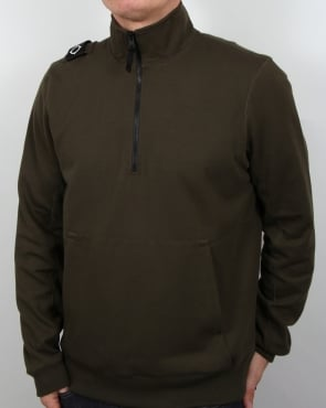 Ma.strum Chaffee 1/2 Zip Sweatshirt Dark Olive