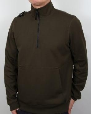 Ma.strum Chaffee Half Zip Sweatshirt Dark Olive