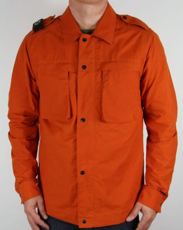 Ma.strum Clipper Cargo Overshirt Gold Flame