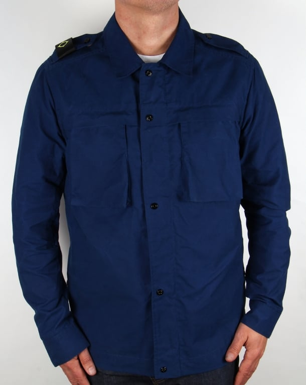 Ma.strum Clipper Cargo Overshirt Northern Blue