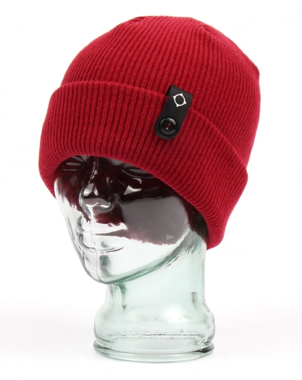 Ma.Strum Detachable Id Beanie Red Alert