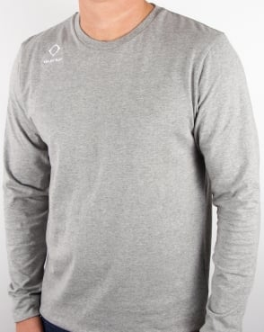 Ma.strum Emblem Long Sleeve T Shirt Grey Melange