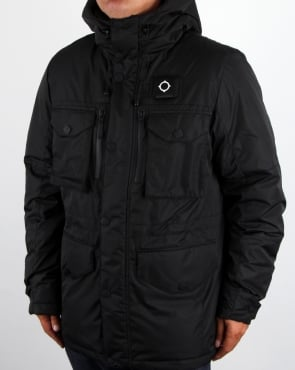 Ma.strum Greyback Down Fill Parka Black