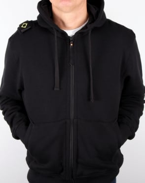 Ma.strum Hooded Zip Through Sweat Black