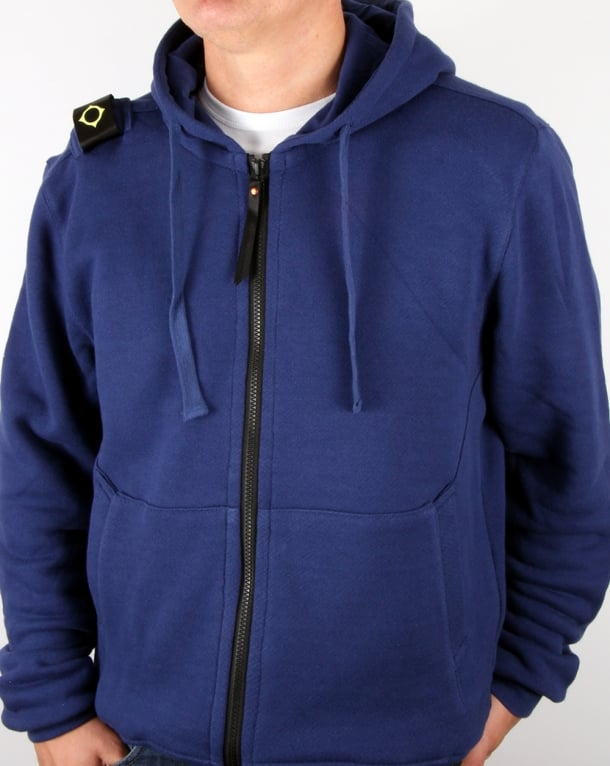 Ma.strum Hooded Zip Through Sweat Patriot Blue