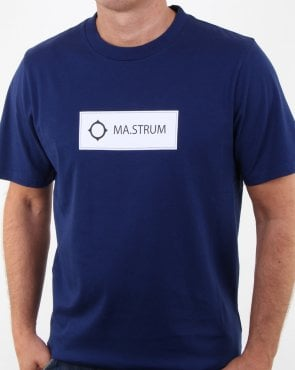Ma.strum Icon Box Logo T-shirt Dark Indigo