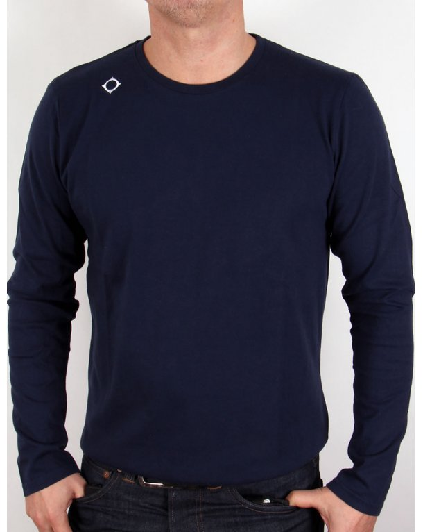 Ma.strum Kit Issue Long Sleeve Crew Neck T-shirt Navy Blue