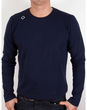 Ma.strum Kit Issue Long Sleeve Crew Neck T-shirt Navy Blue