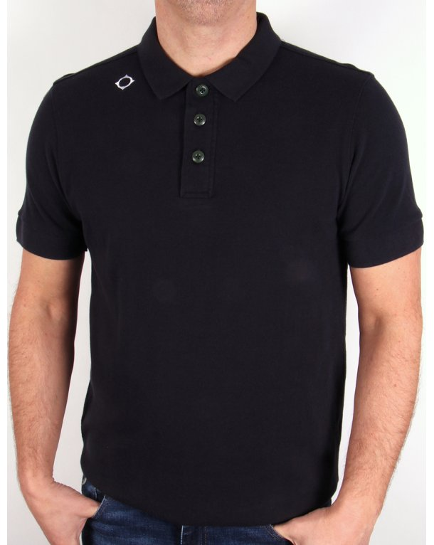 Ma.strum Kit Issue Short Sleeve Pique Polo Shirt Dark Navy