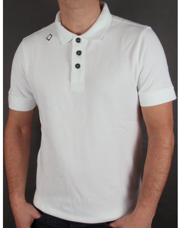 Ma.strum Kit Issue Short Sleeve Pique Polo Shirt White
