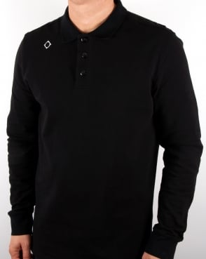 Ma.strum Ls Pique Polo Shirt Black