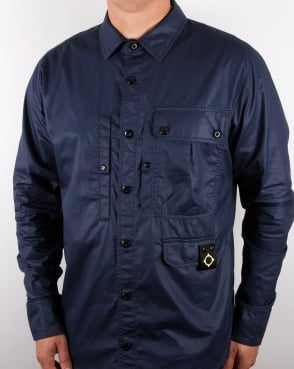 Ma.strum Multi Pocket Shirt Dress Blue