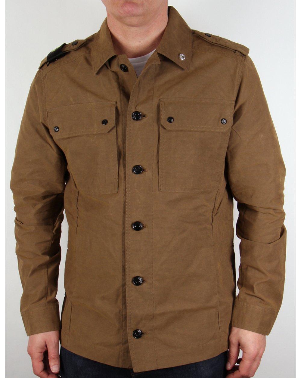 Ma Strum Overshirt British Khaki Jacket Coat Terrace Mens