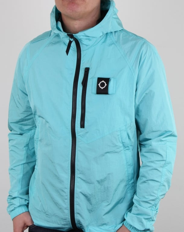 Ma.Strum Pegasus Crystal Nylon Jacket Pale Turquoise